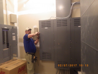 Solomon at Federal Credit Union in Main Electrical Room